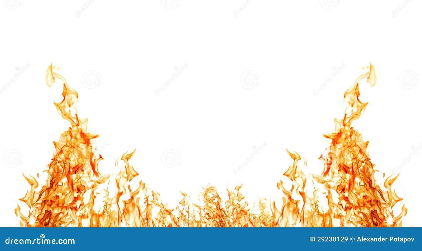 Download Isolado Na Metade Branca Do Quadro Alaranjado Do Incêndio Imagem de Stock - Imagem de bonfire, energia: 29238129