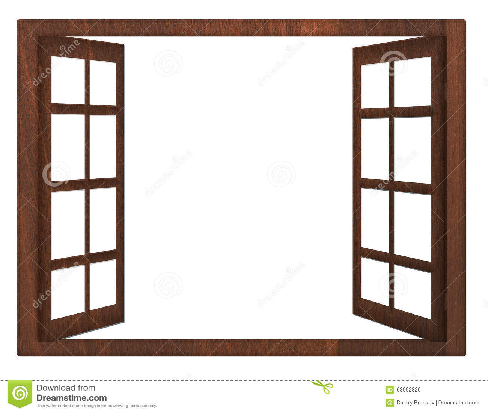 Isolamento della finestra aperta fotografia stock for Disegno di finestra aperta