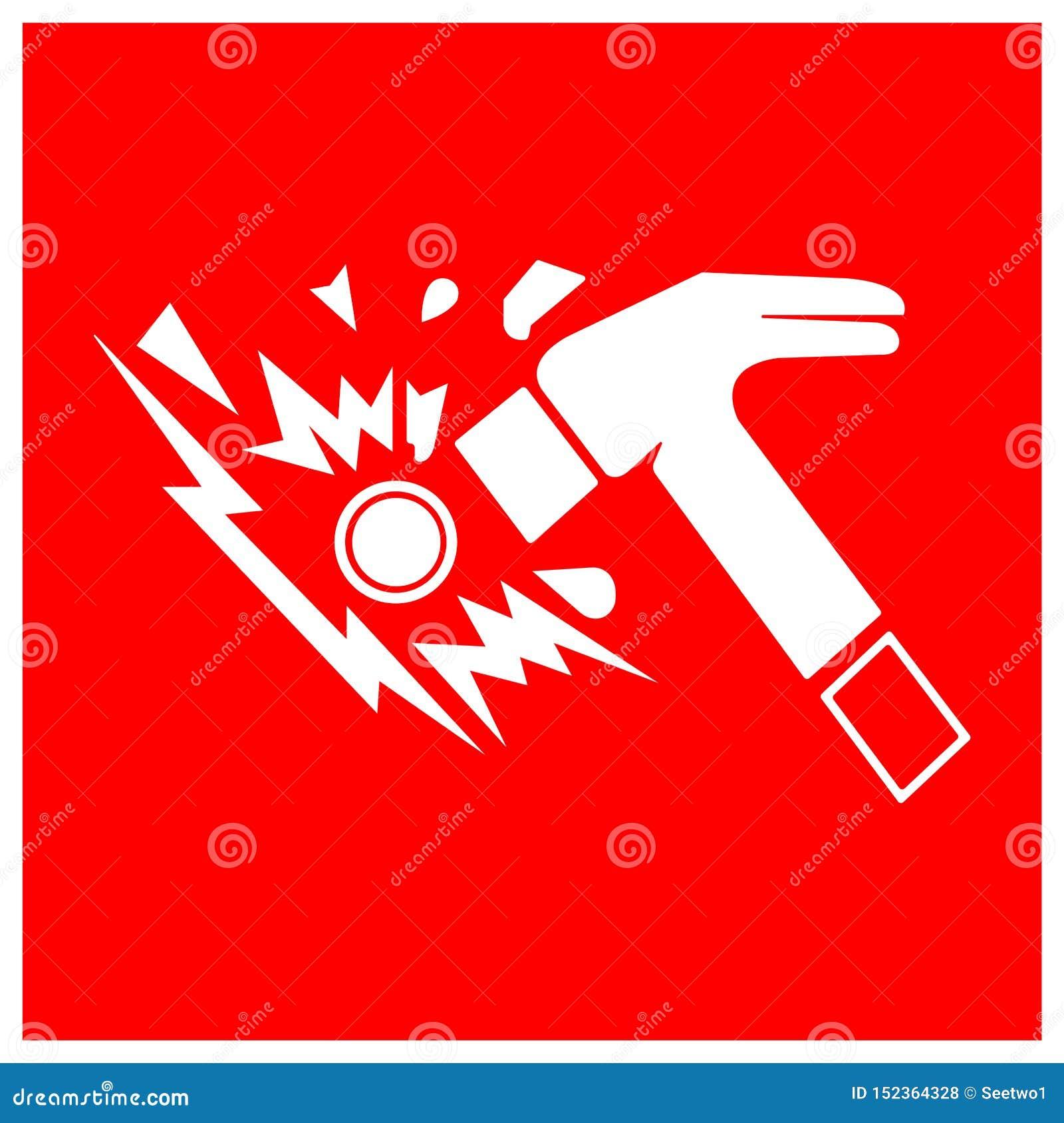 Isolat en verre de signe de symbole de coupure sur le fond blanc, illustration ENV de vecteur 10