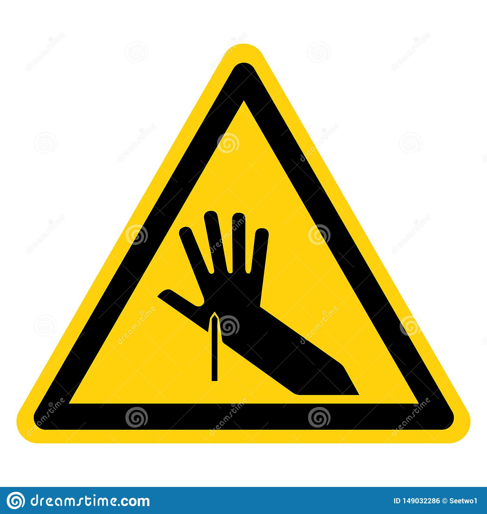 Isolat pointu de signe de symbole de point sur le fond blanc, illustration de vecteur