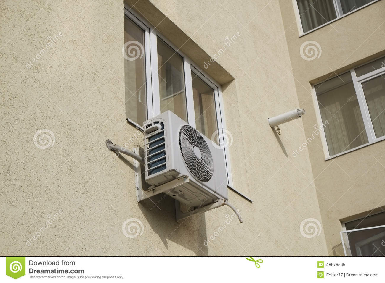 Isolate Air Conditioning Device Stock Image - Image of conditioning ...