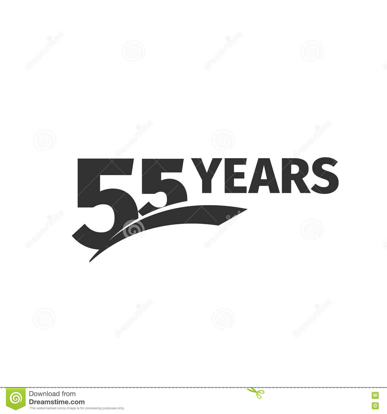 55 Number Logotype Fifty Five Years Celebration Icon Fifth Birthday Greeting Emblem Vector Anniversary Illustration