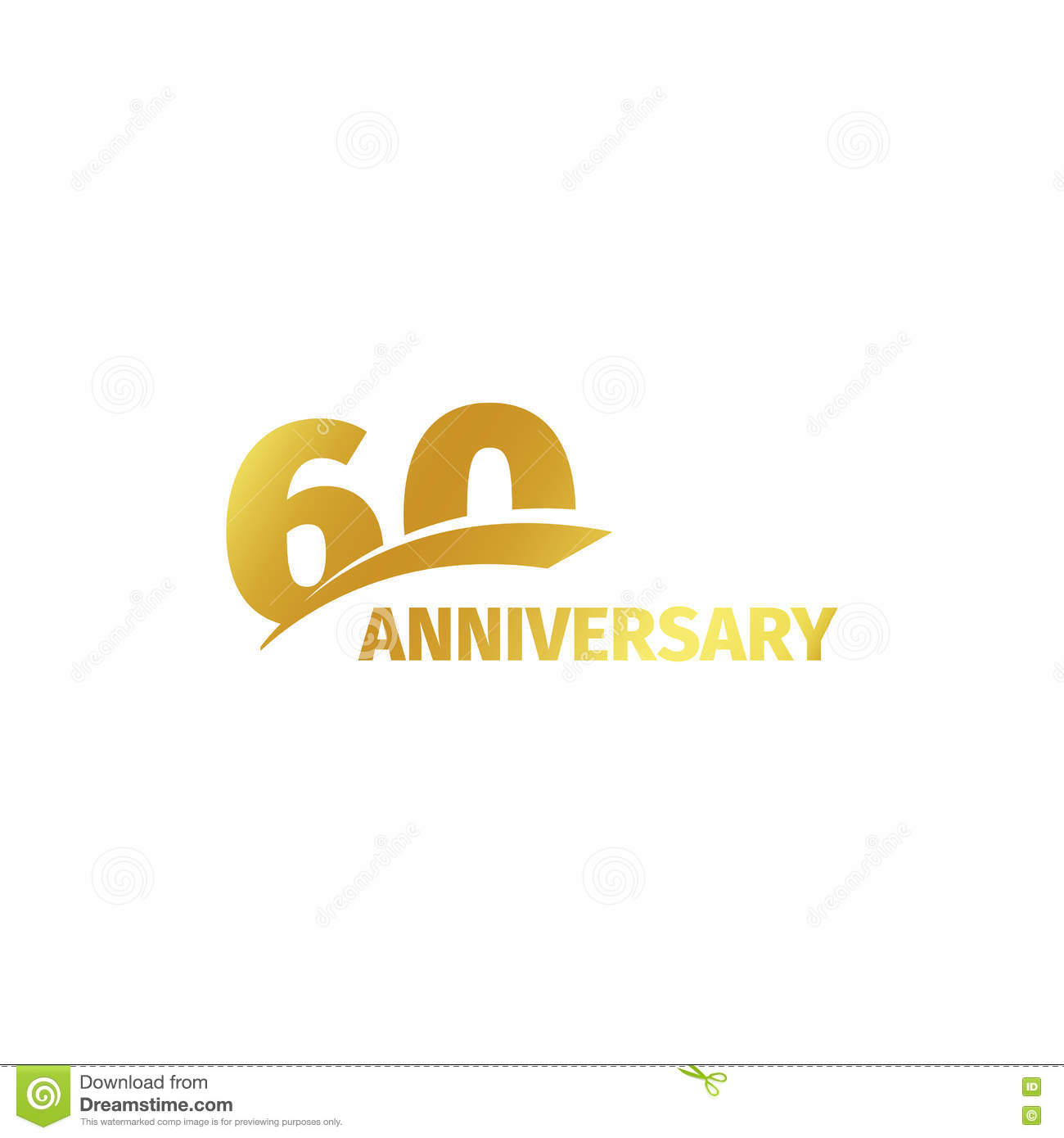 Isolated abstract golden 60th anniversary logo on white background isolated abstract golden 60th anniversary logo on white background 60 number logotype sixty years jubilee celebration marriage emblem kristyandbryce Choice Image