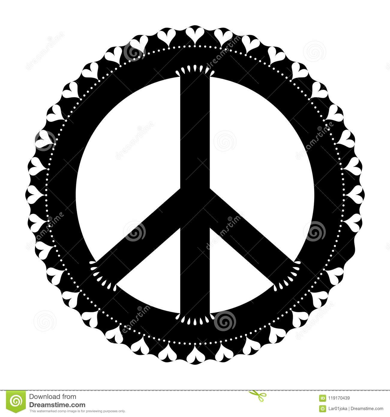 Isolated Abstract Peace Symbol Stock Vector Illustration Of