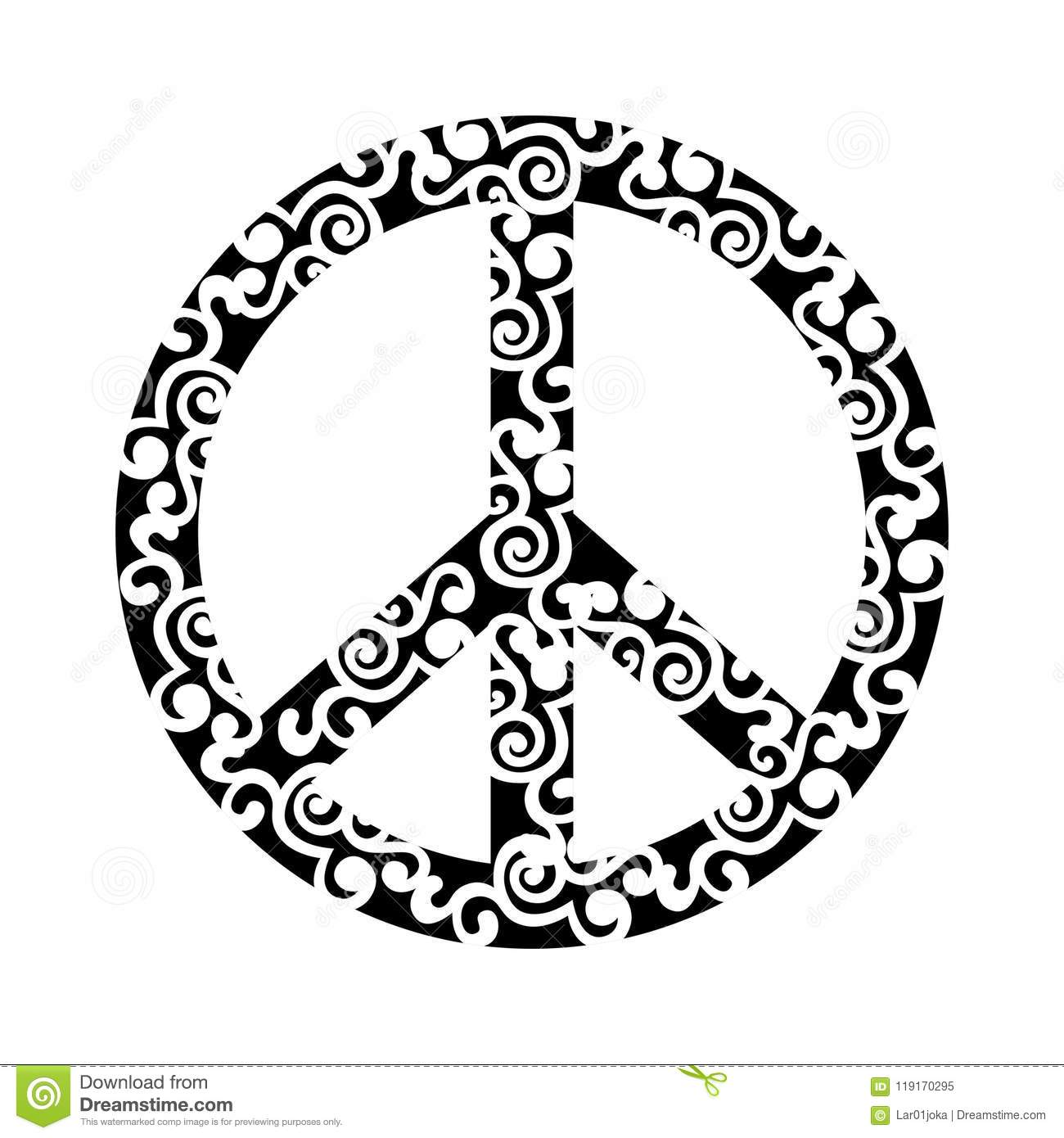 Isolated Abstract Peace Symbol Stock Vector Illustration Of Love