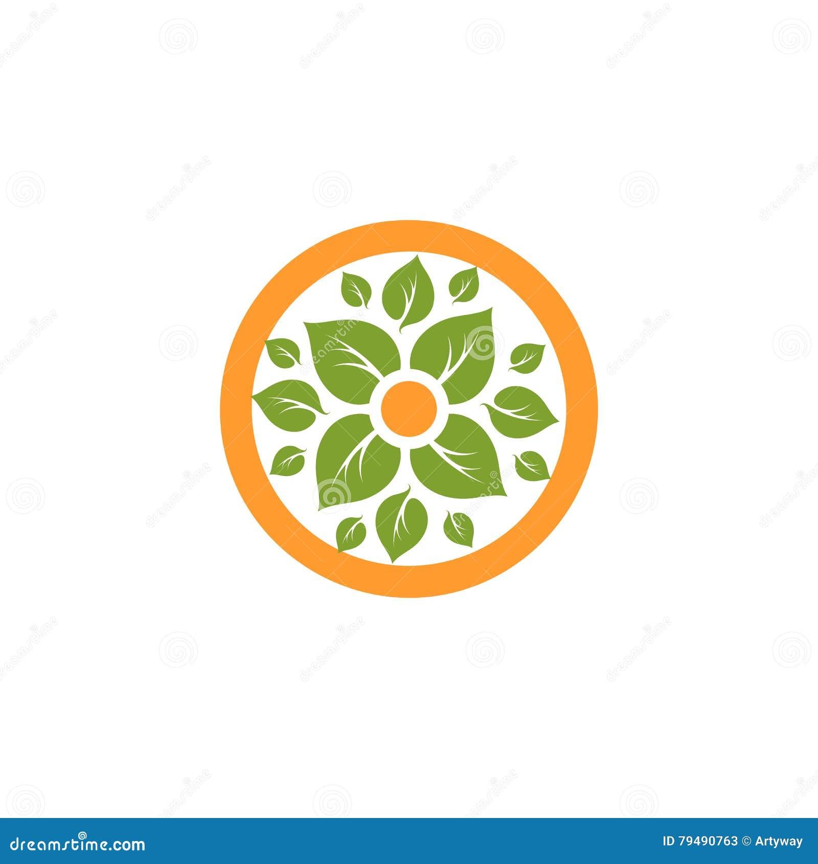 Green Healing Growth Icon Vector Illustration ...