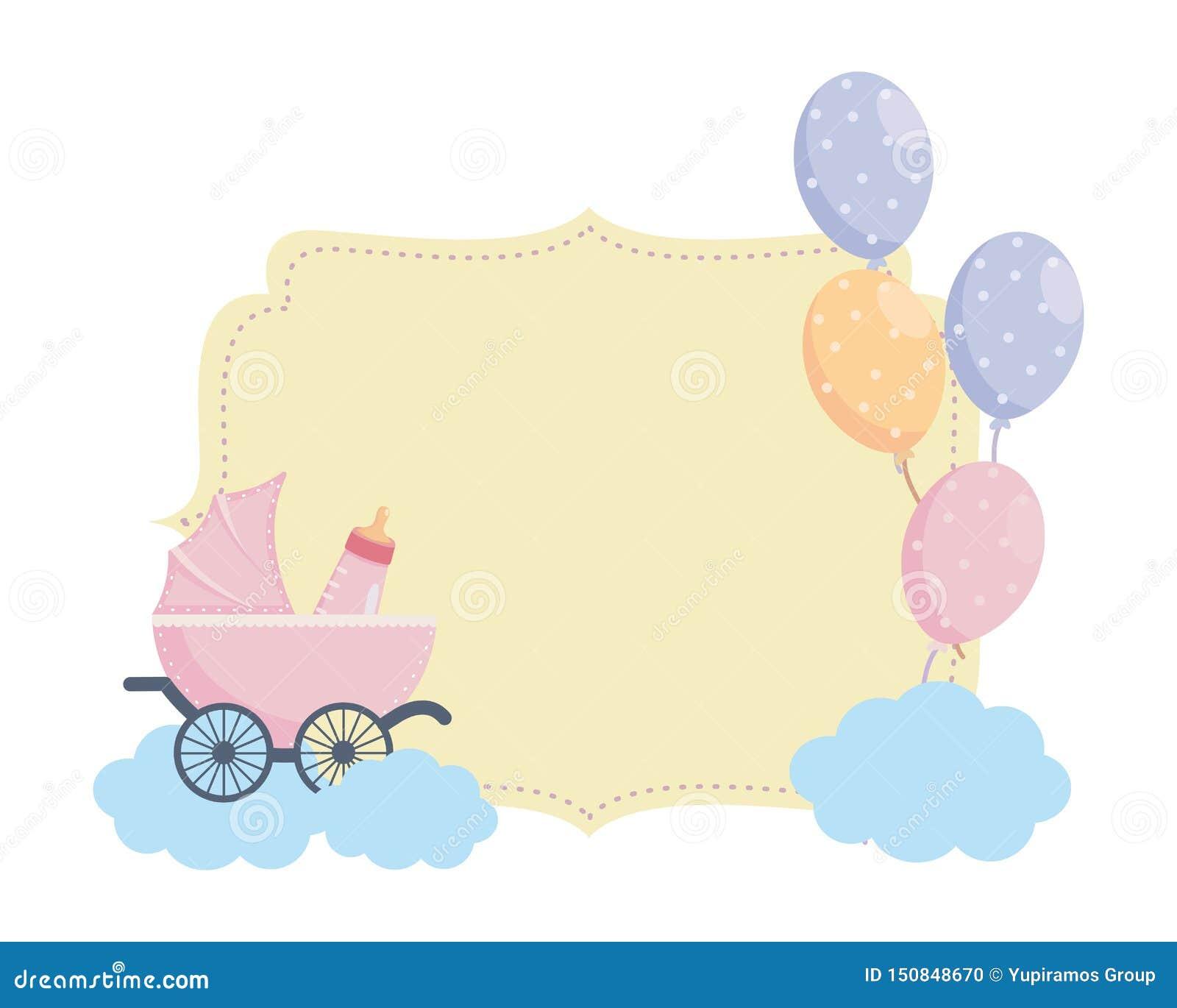 Isolated baby shower symbol design