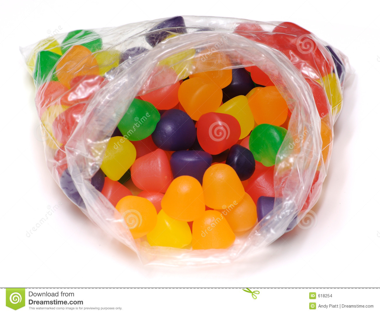 Isolated Bag of Gumdrops