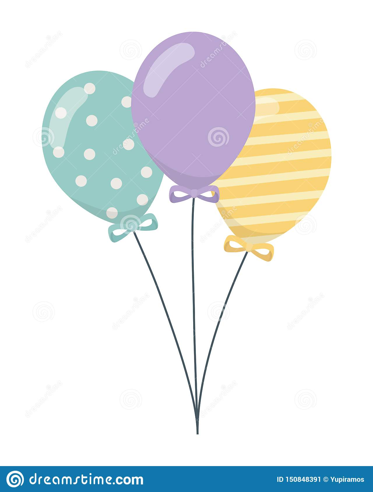 Isolated balloons for decoration design