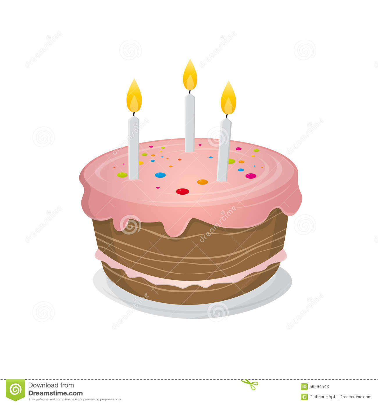 Pictures Of Birthday Cakes Drawings : Isolated Birthday Cake Illustration Stock Vector - Image ...