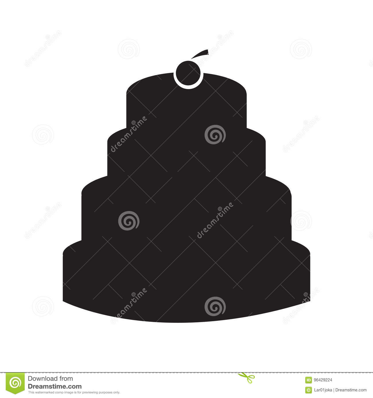 Birthday Cake Silhouette Stock Illustrations