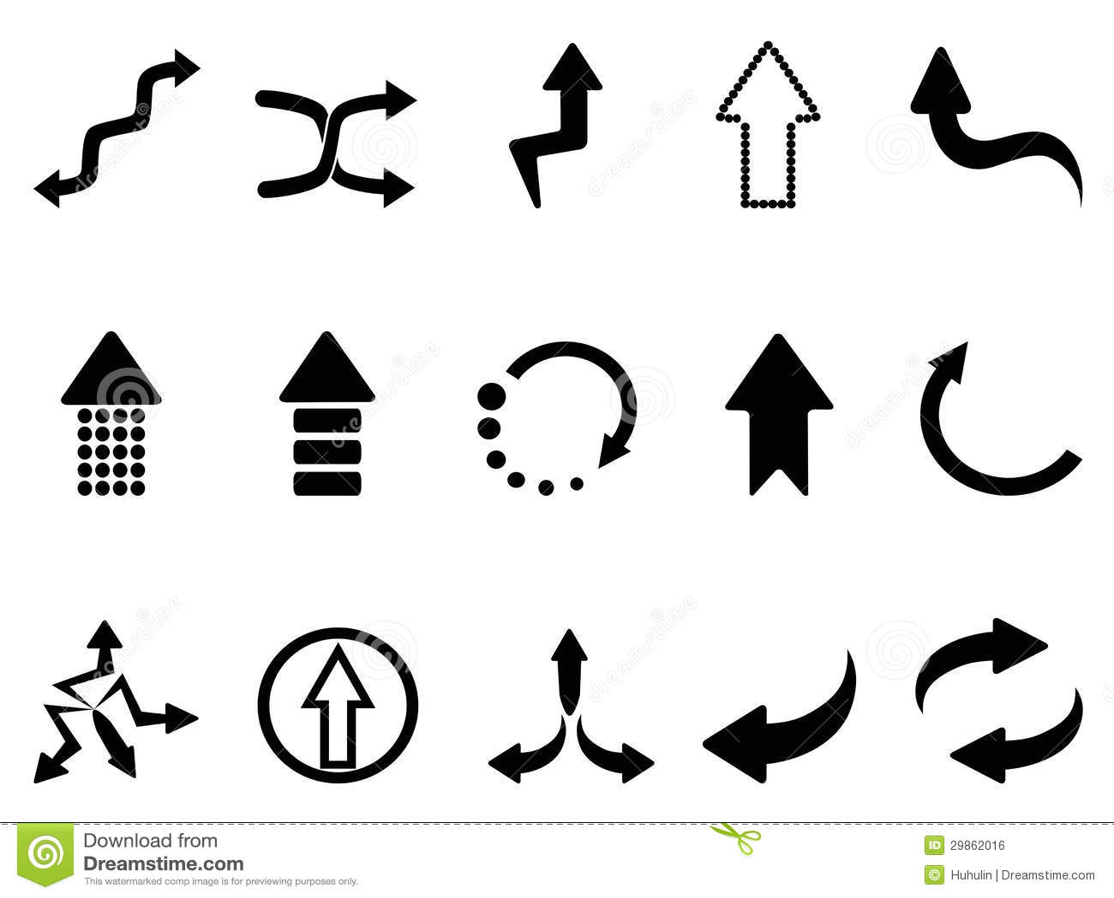 Black Arrow Icons Set Stock Vector Illustration Of Design