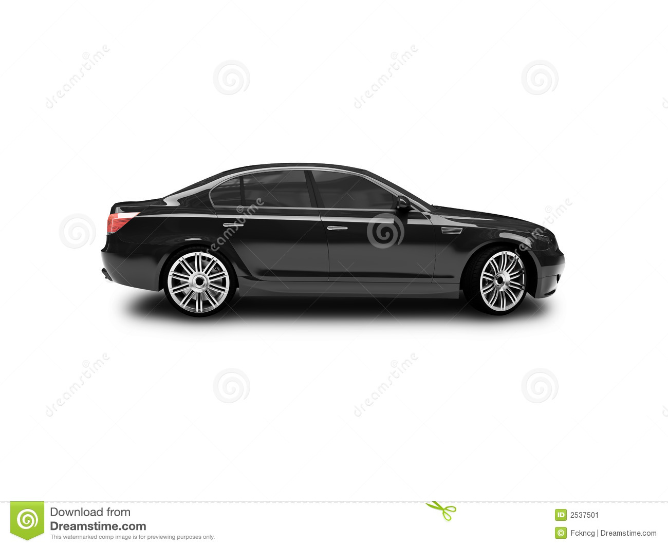 Isolated Black Car Side View Stock Image Image 2537501