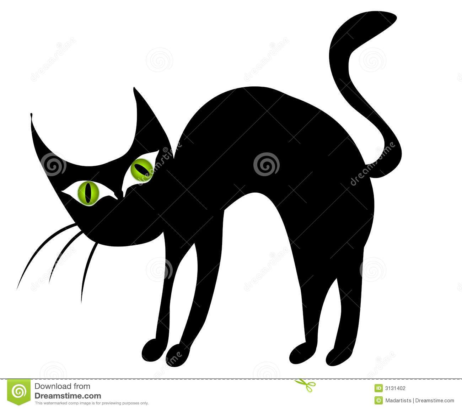 isolated black cat clip art 2 stock illustration image. Black Bedroom Furniture Sets. Home Design Ideas