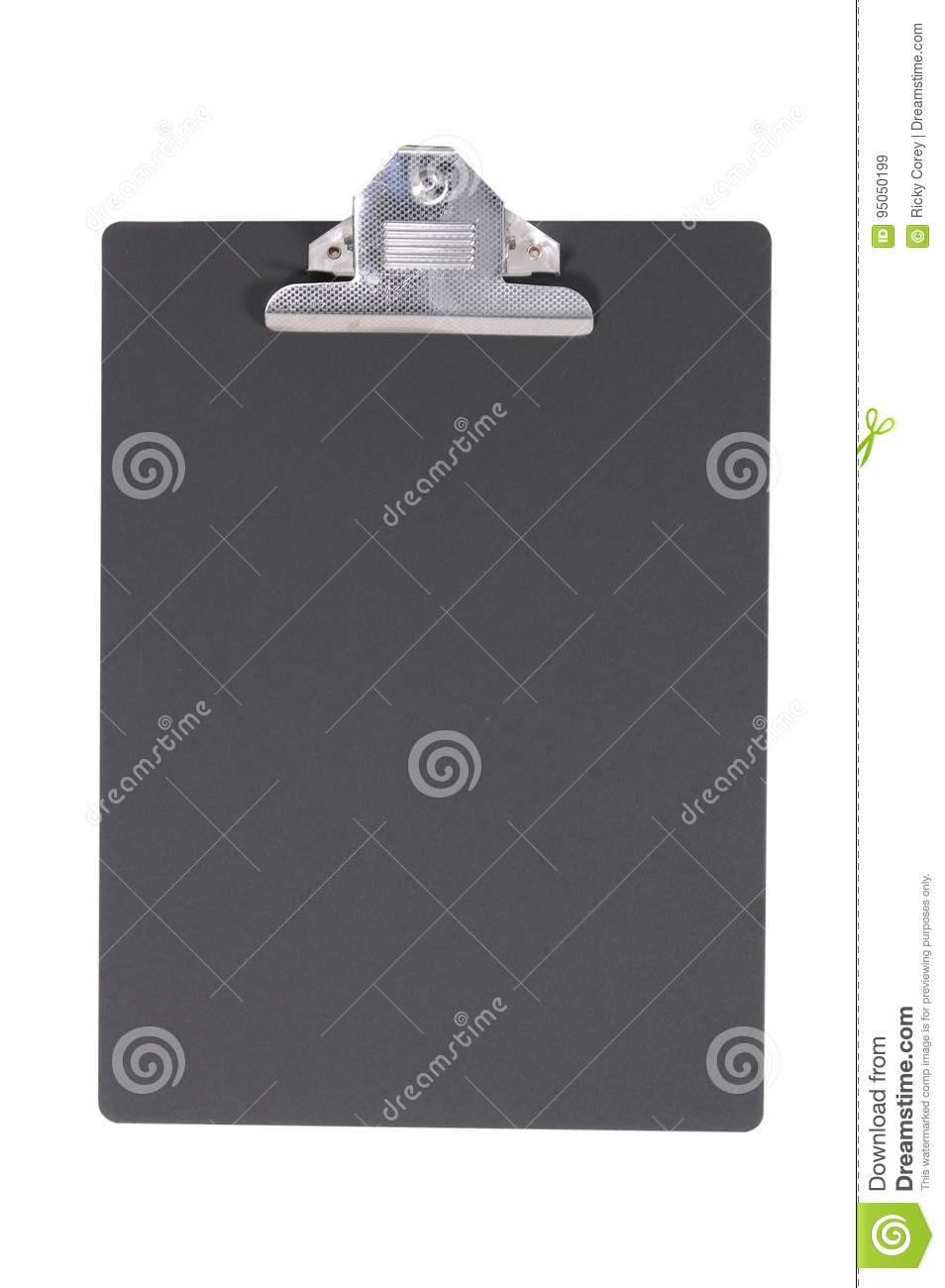 Isolated Black Clipboard