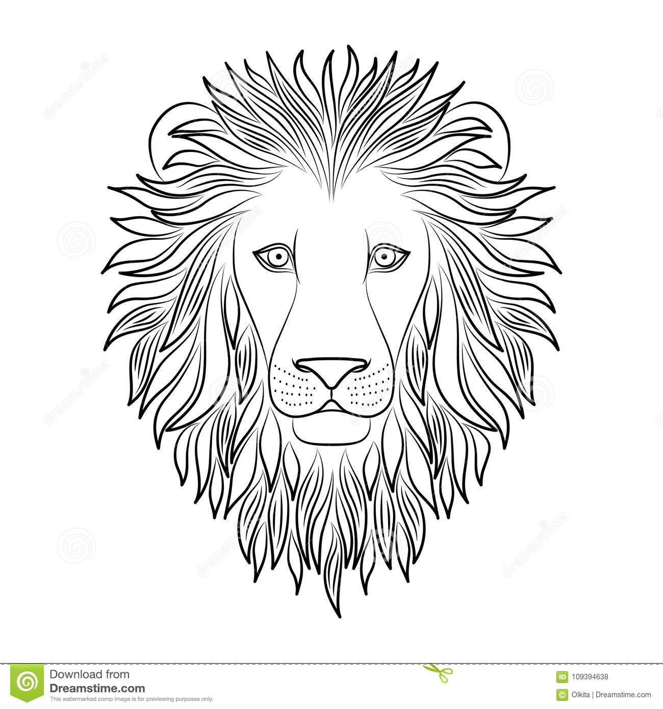 Lion Outline Colouring Stock Illustrations 95 Lion Outline Colouring Stock Illustrations Vectors Clipart Dreamstime Check out our lion for coloring selection for the very best in unique or custom, handmade pieces from our shops. dreamstime com