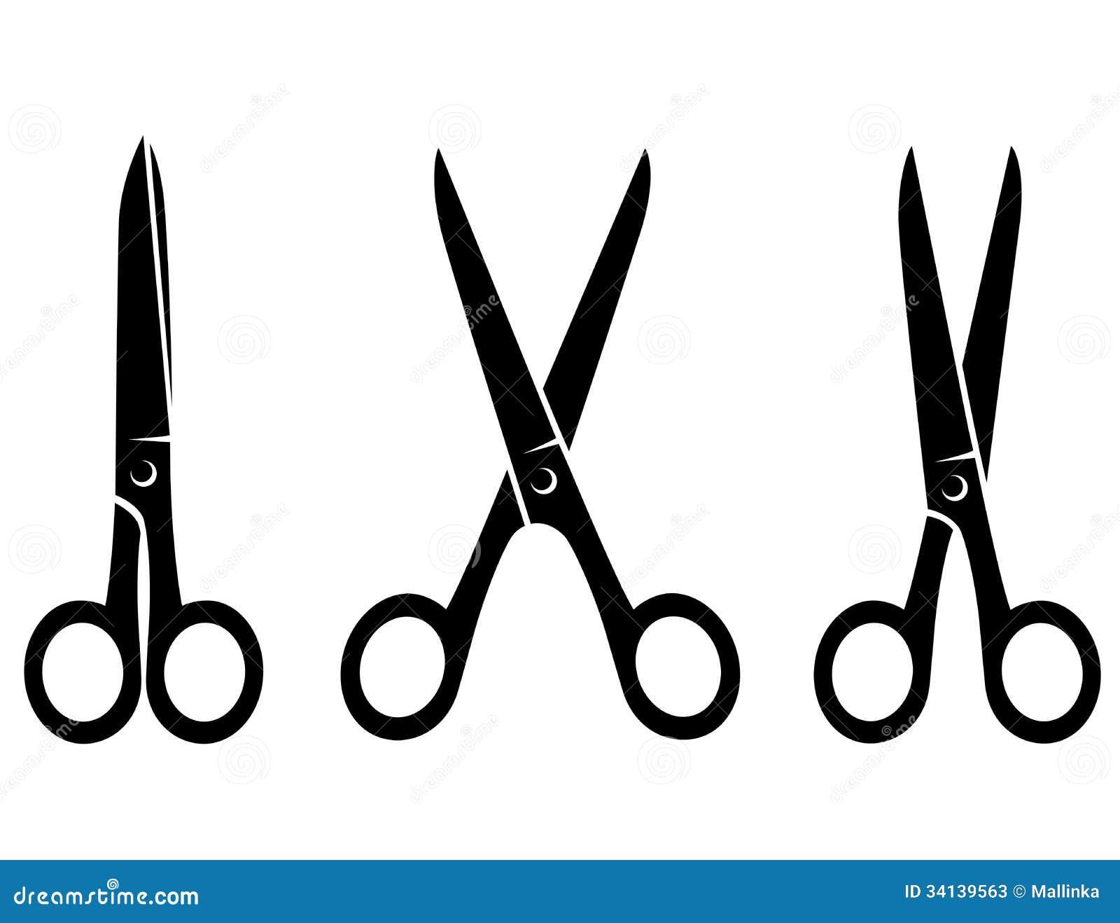 Isolated Black Scissors On White Background Stock Photos