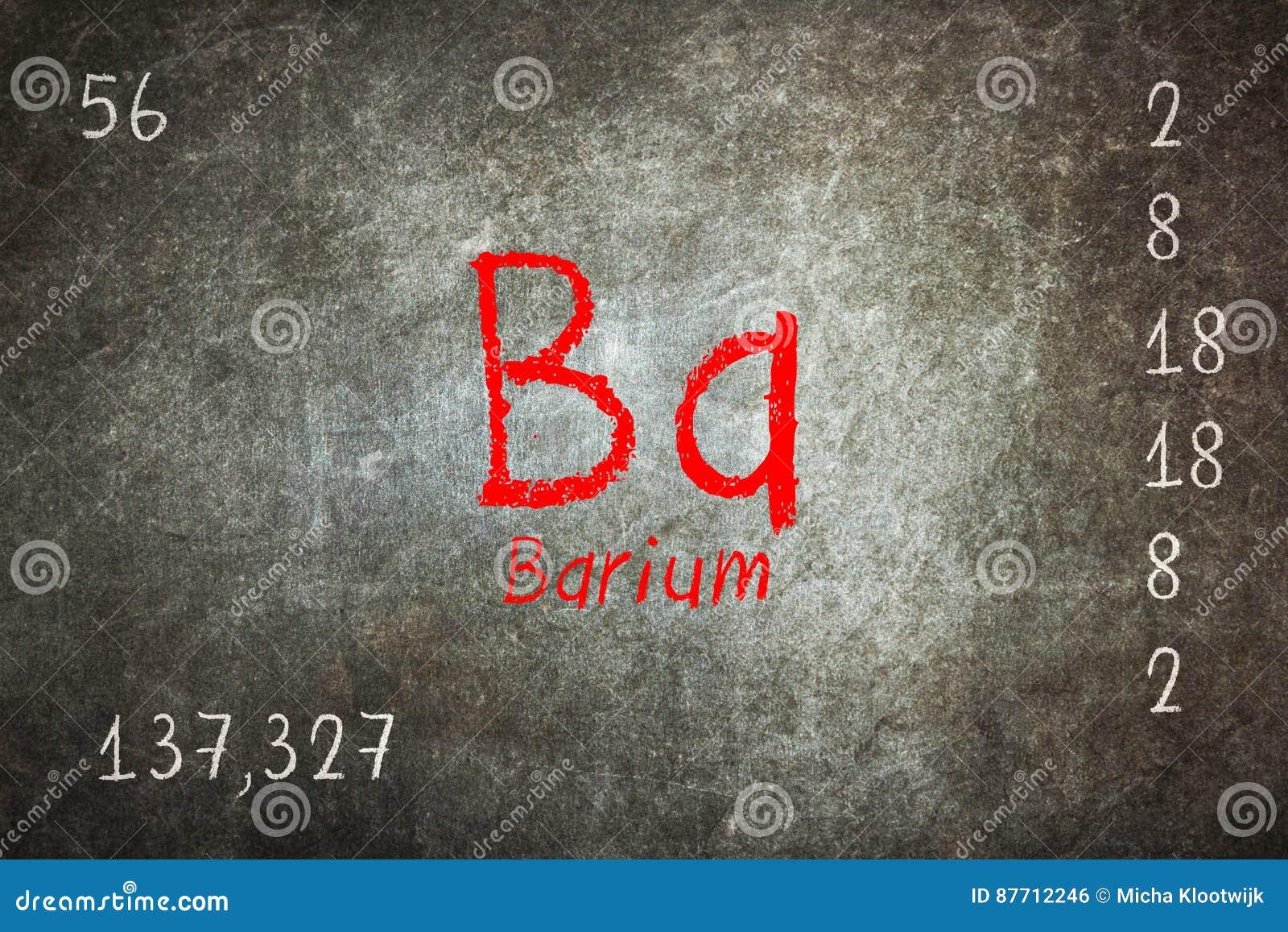 Isolated Blackboard With Periodic Table Barium Stock Illustration