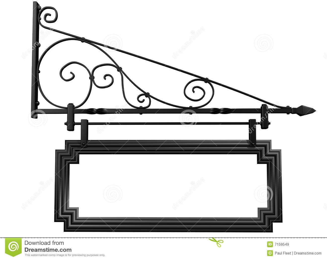 isolated blank shop sign stock illustration illustration of antique