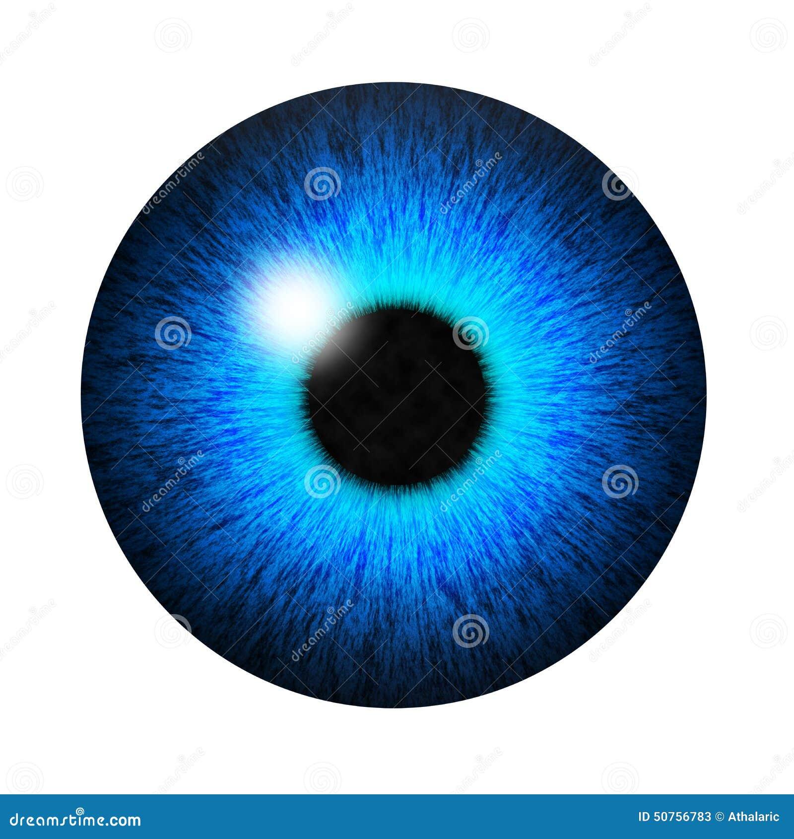 Isolated Blue Eye Pupil Stock Illustration Illustration