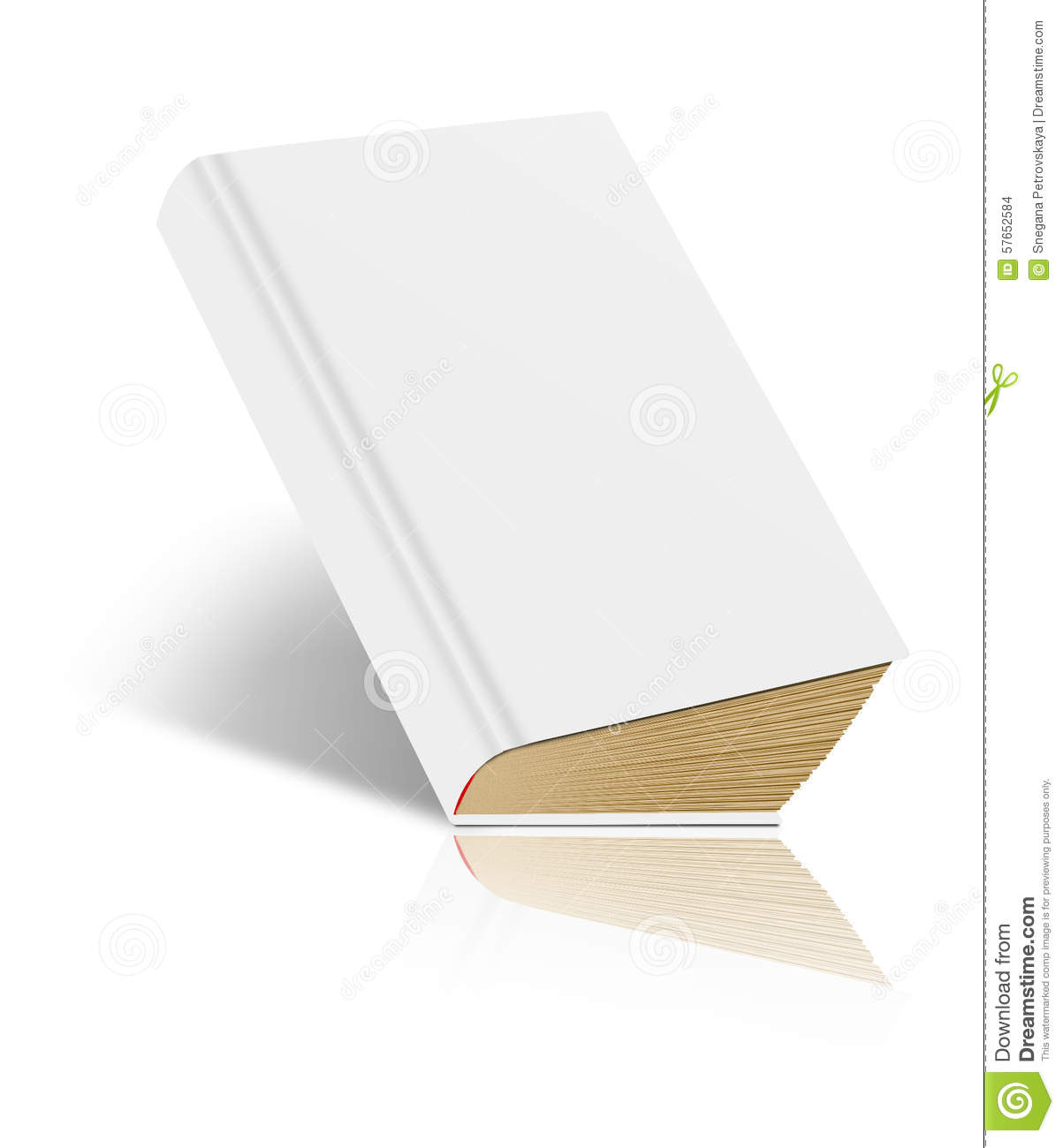Blank book cover drawing : Isolated book stock illustration image