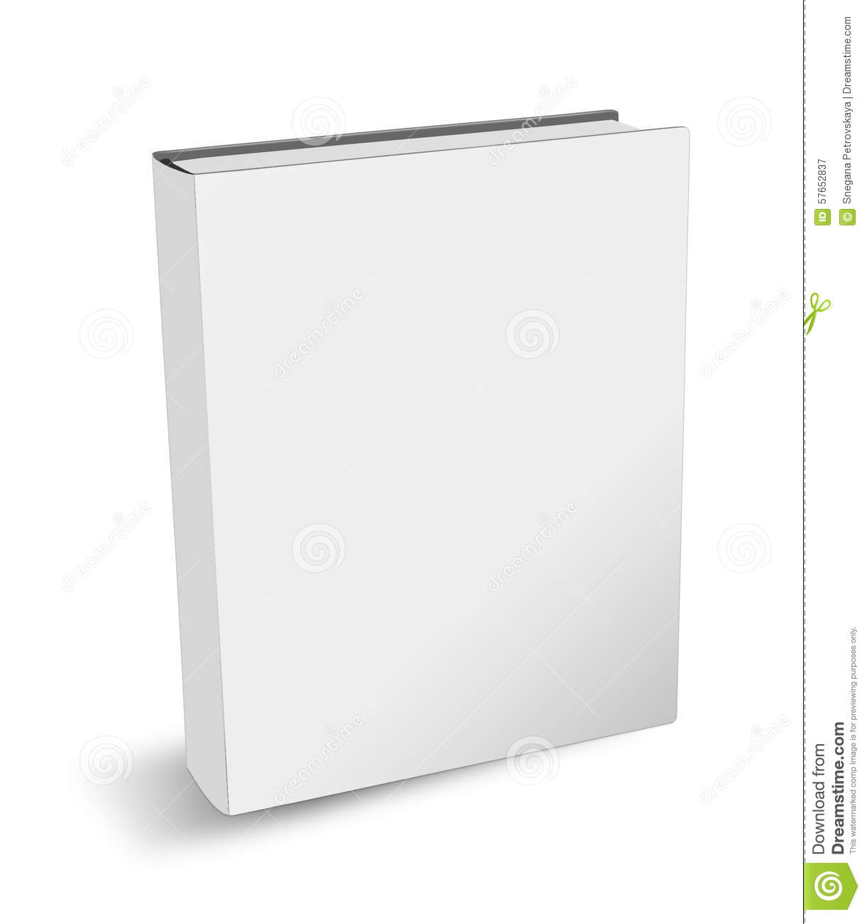Blank Book Cover Drawing ~ Isolated book stock illustration image