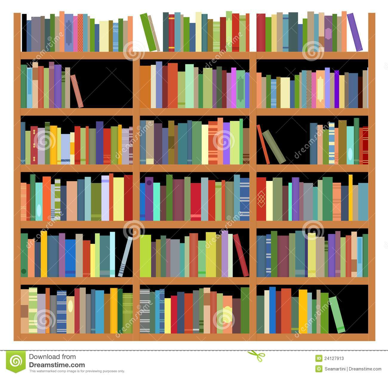 Isolated Bookshelf Stock Vector Illustration Of Dark Jpg 1300x1263 Cartoon
