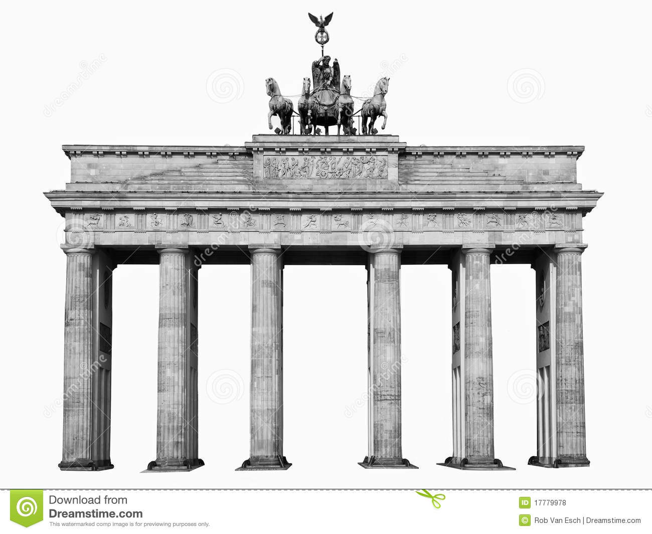 isolated brandenburger tor berlin stock photo image of illuminated platz 17779978. Black Bedroom Furniture Sets. Home Design Ideas