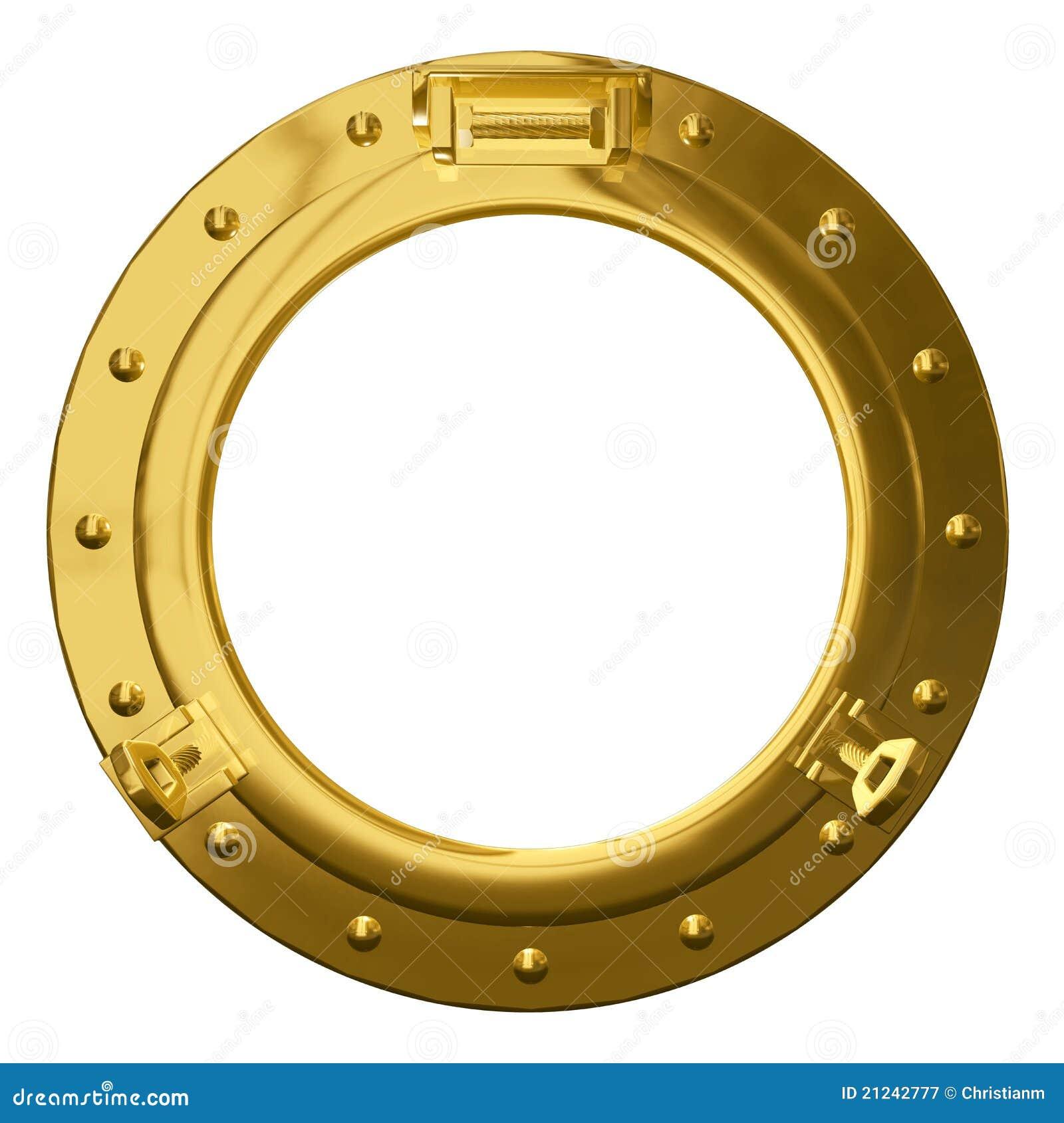 Isolated Brass Porthole Stock Illustration Illustration