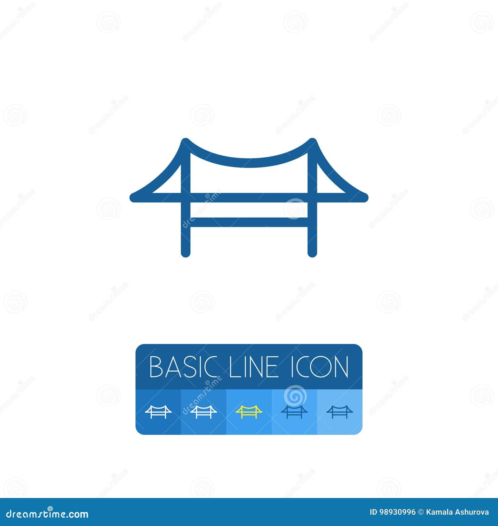 Isolated Bridge Outline. Golden Gate Vector Element Can Be Used For Bridge, Golden, Gate Design Concept.