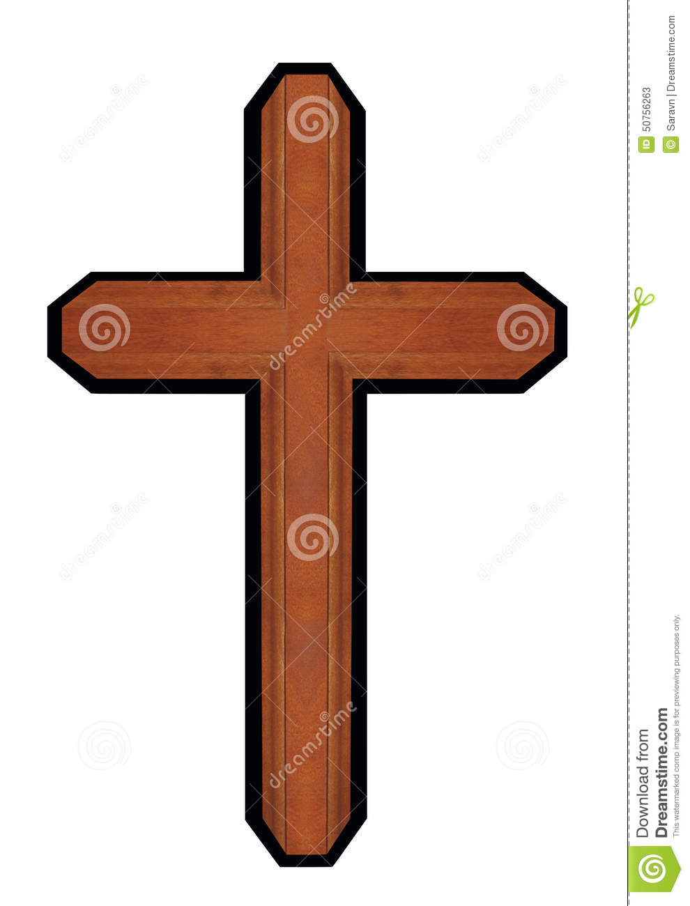 Isolated brown wooden ornate walnut cross christian symbol of royalty free stock photo buycottarizona Images