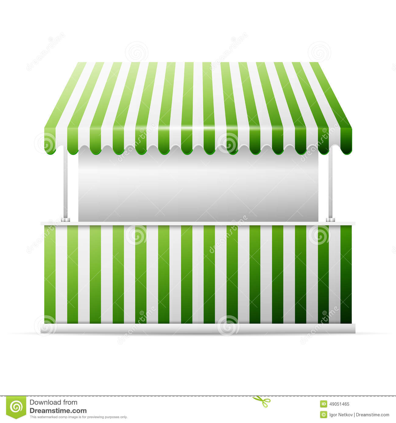 Isolated Business Stall Stock Vector Image 49051465