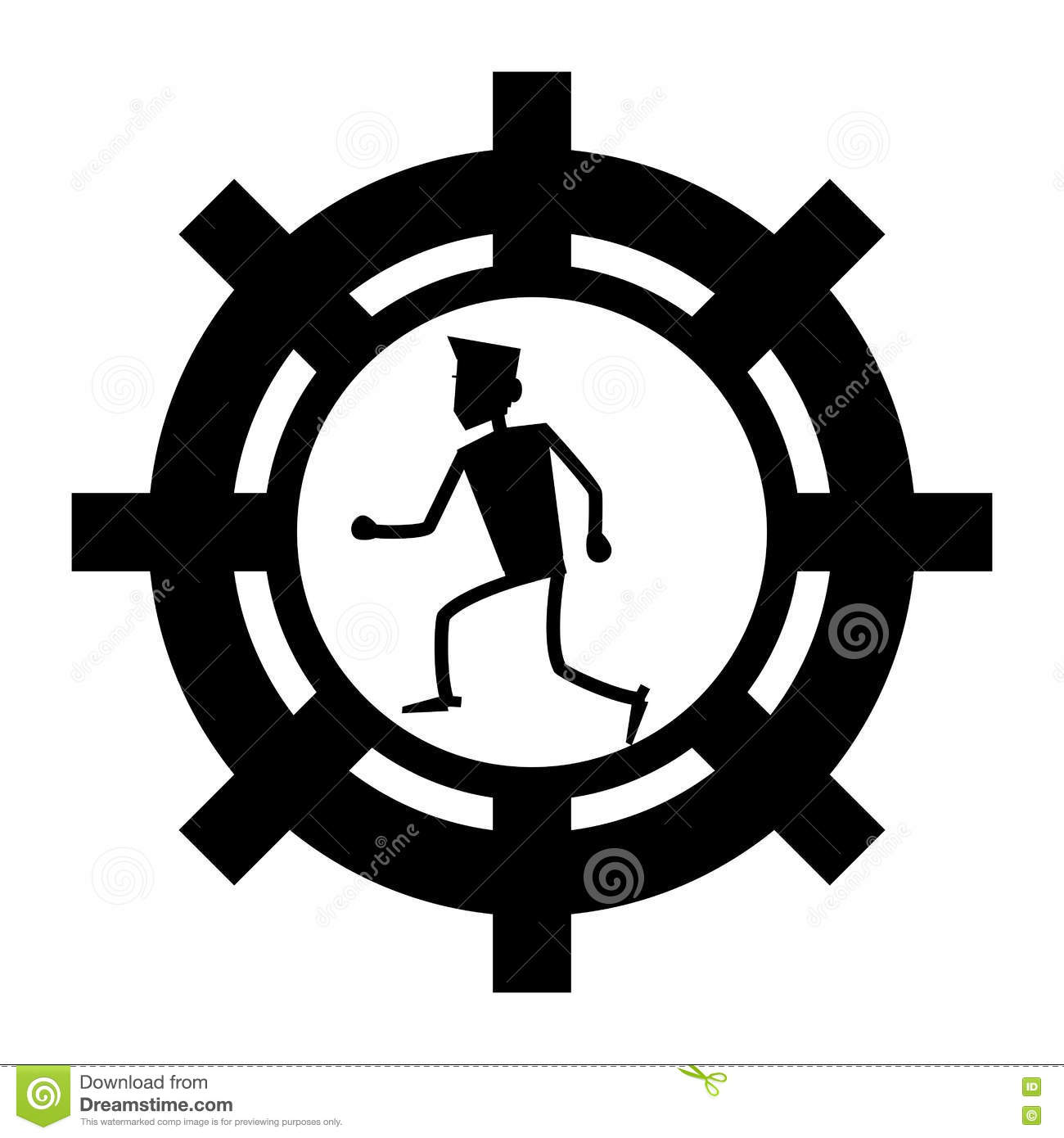 Businessman avatar inside gear icon. Businesspeople management and  corporate theme. Isolated design. Vector illustration 82250a73a