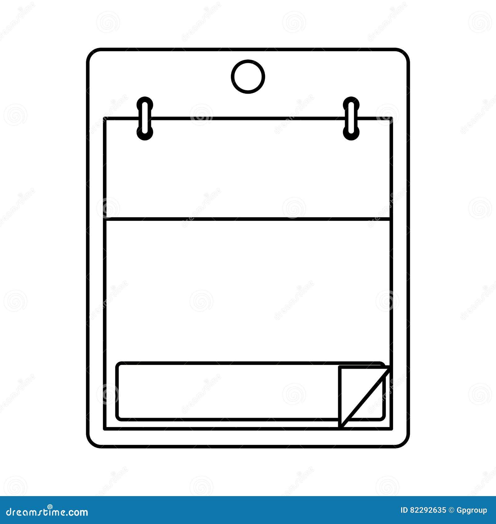 isolated calendar design stock vector illustration of calendar