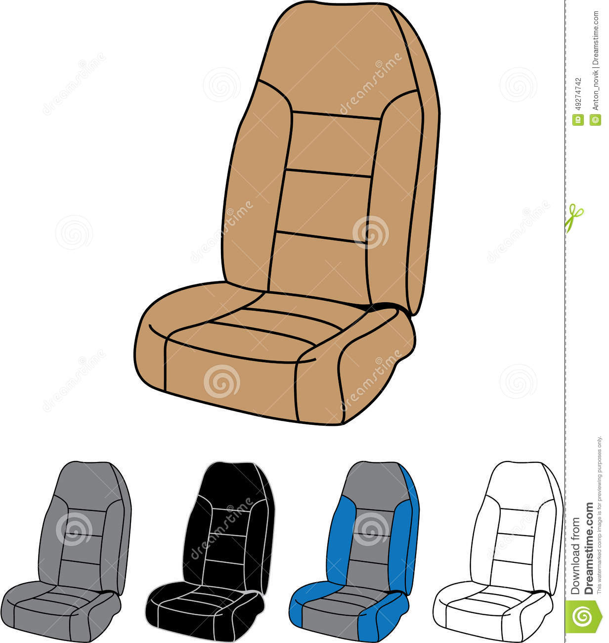 Isolated Car Seat Stock Vector Illustration Of Inside