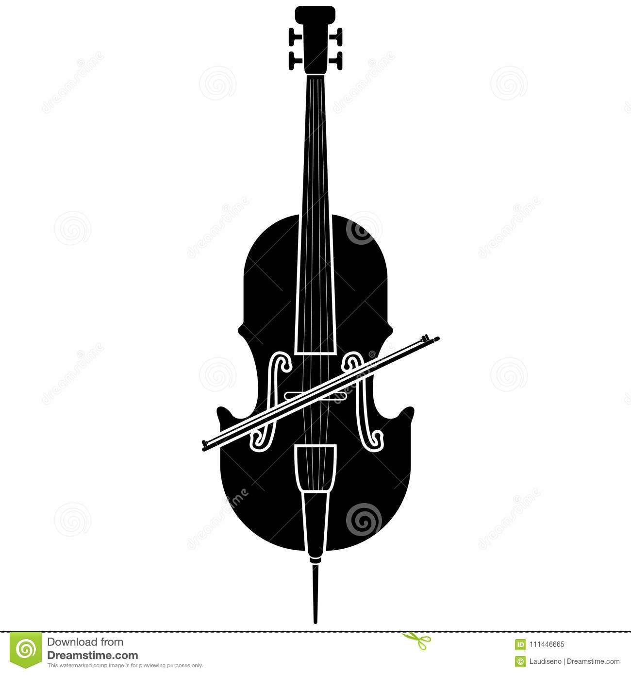 Isolated Cello Icon Musical Instrument Stock Vector