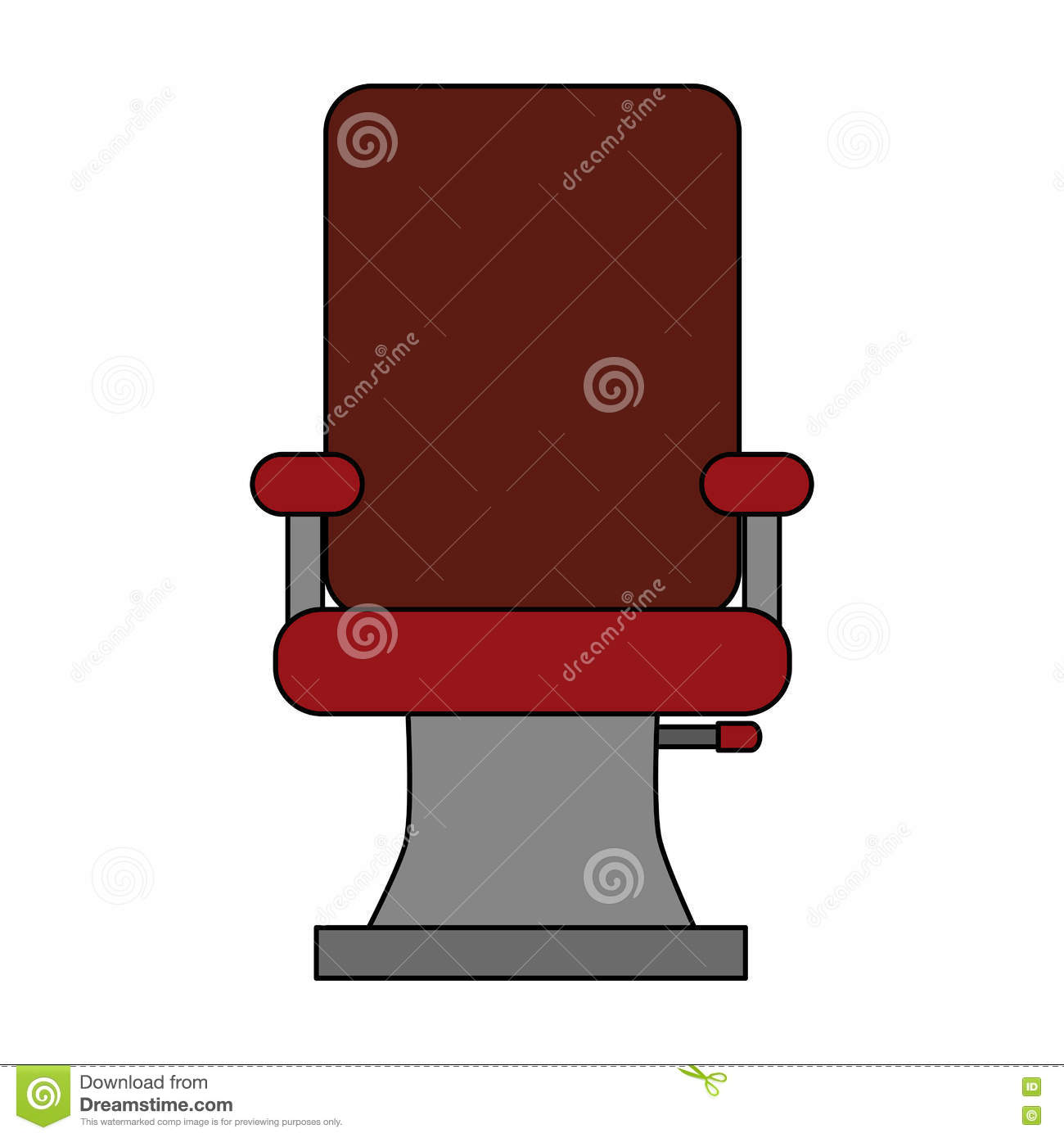 Hair salon chair isolated stock photos illustrations and vector art - Barbershop Chair Design Illustration