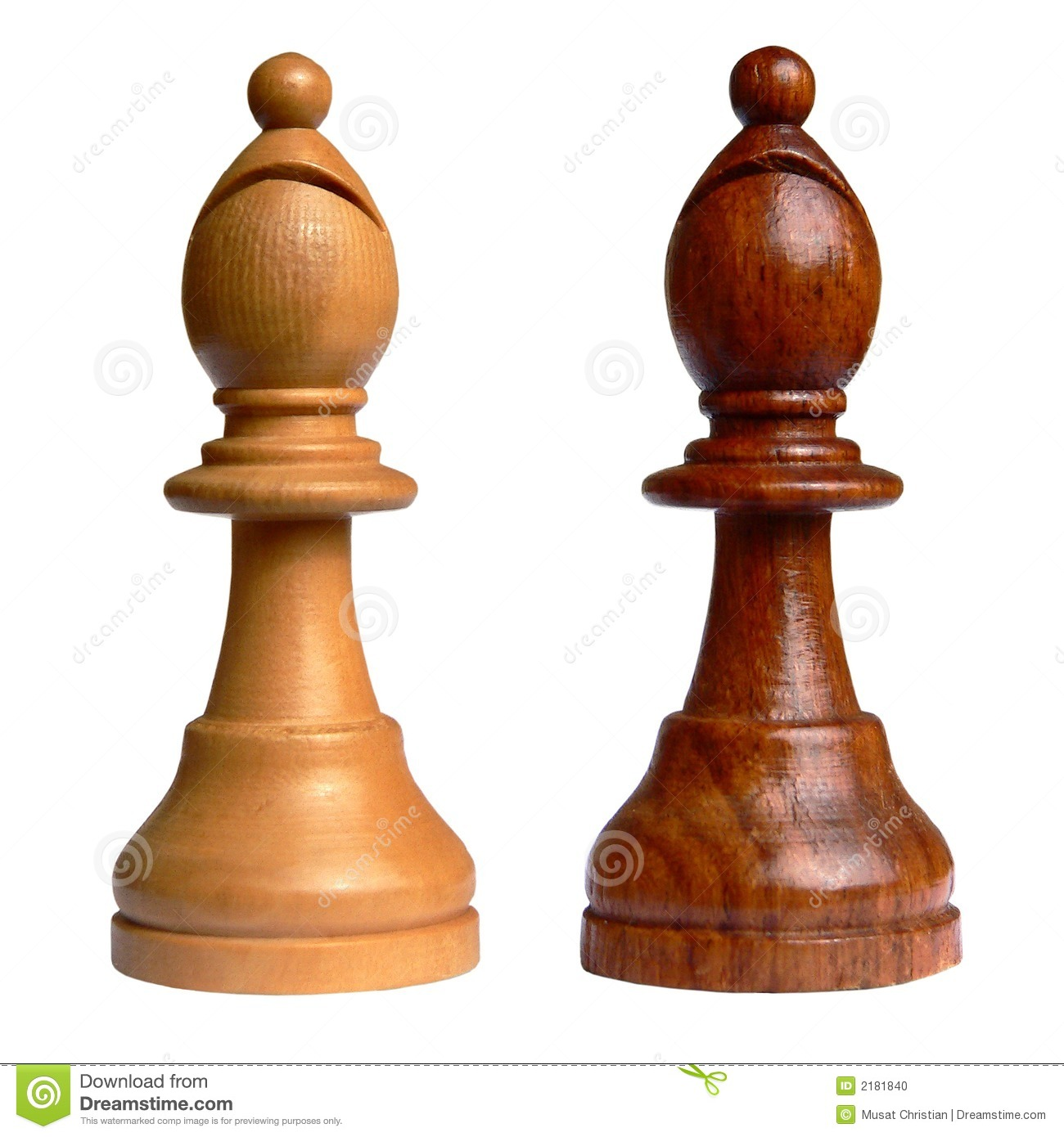 Isolated Chess Bishop Stock Photo - Image: 2181840