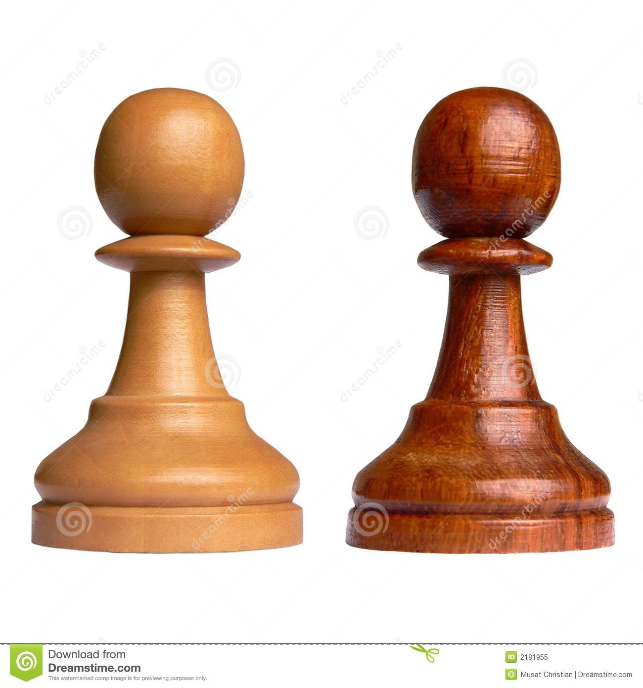 Isolated Chess Pawn Royalty Free Stock Photo - Image: 2181955
