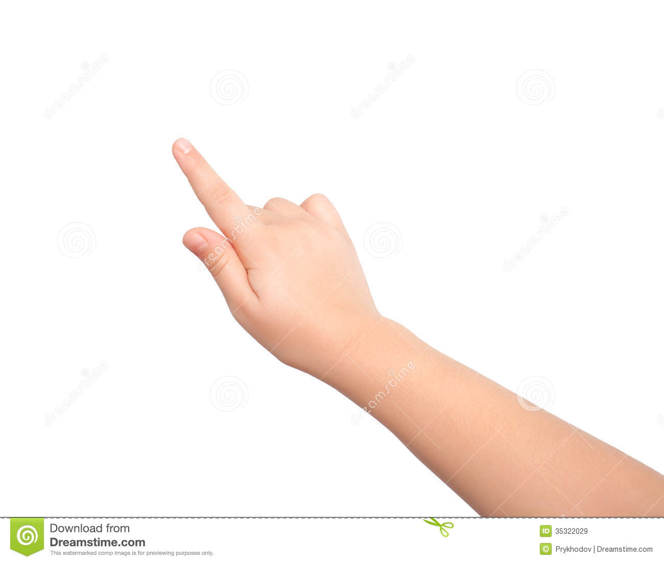 Isolated Child Hand Touching Or Pointing To Something Royalty Free Stock Images - Image: 35322029