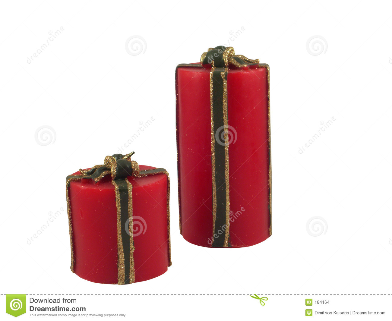 Isolated christmas candles (clipping path)