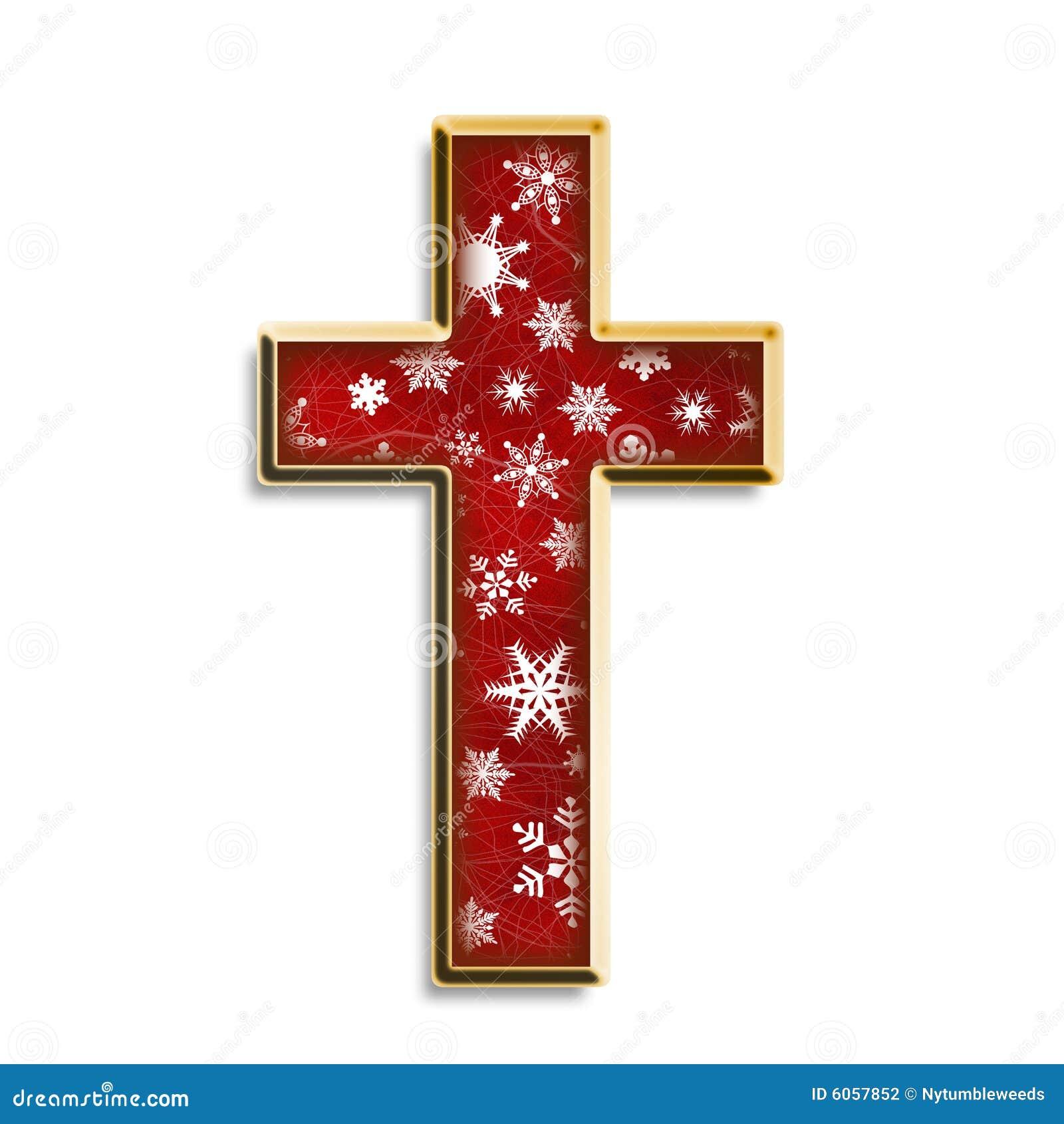 Isolated Christmas Cross Stock Photography - Image: 6057852