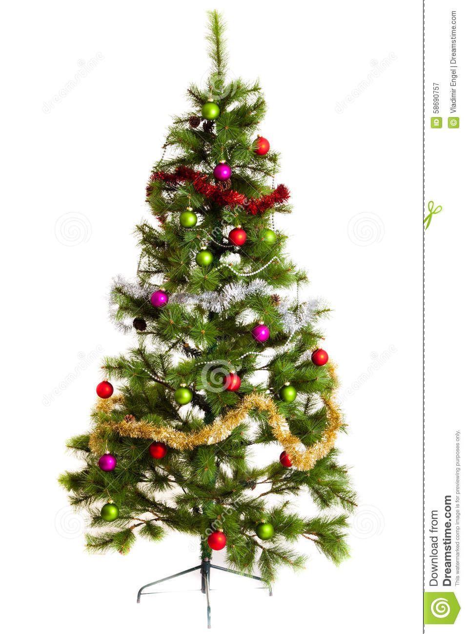 Isolated christmas tree decorations 2016 happy new year for Christmas decorations 2016