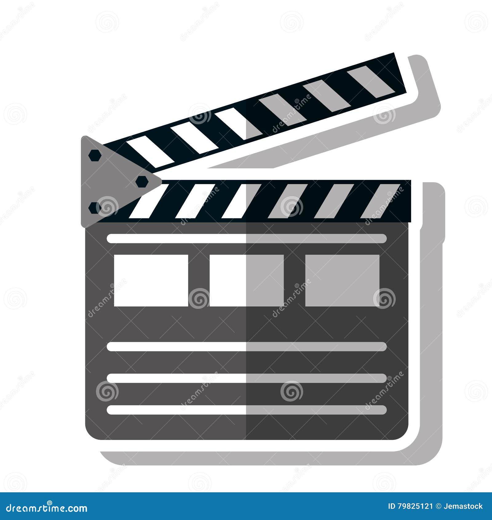 isolated cinema clapboard design stock illustration illustration