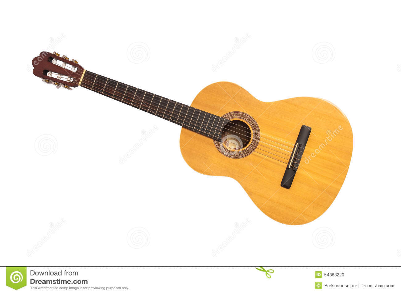 Download Isolated Classical Guitar stock photo. Image of full - 54363220