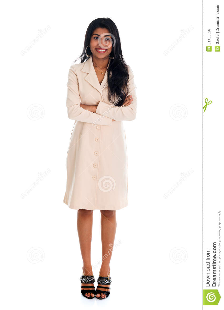 Isolated confident Indian businesswoman