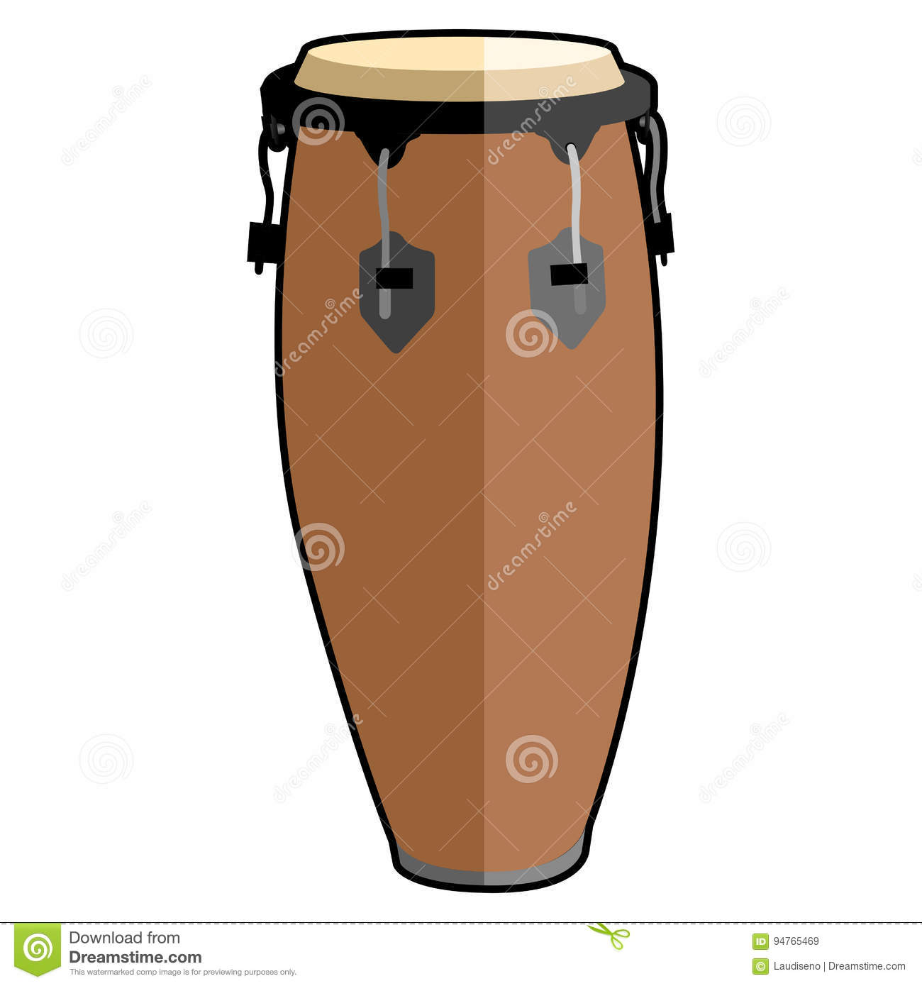 Isolated Conga Drum Icon Of A Vector Illustration Royalty Free