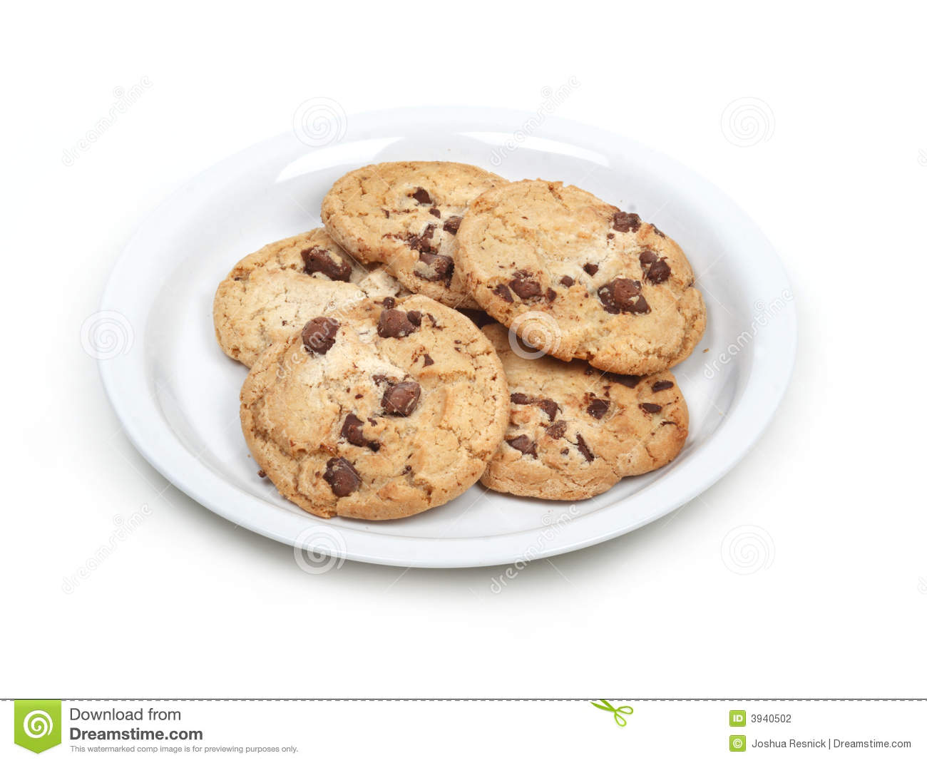 Isolated Cookies On Plate Stock Photo Image Of Food
