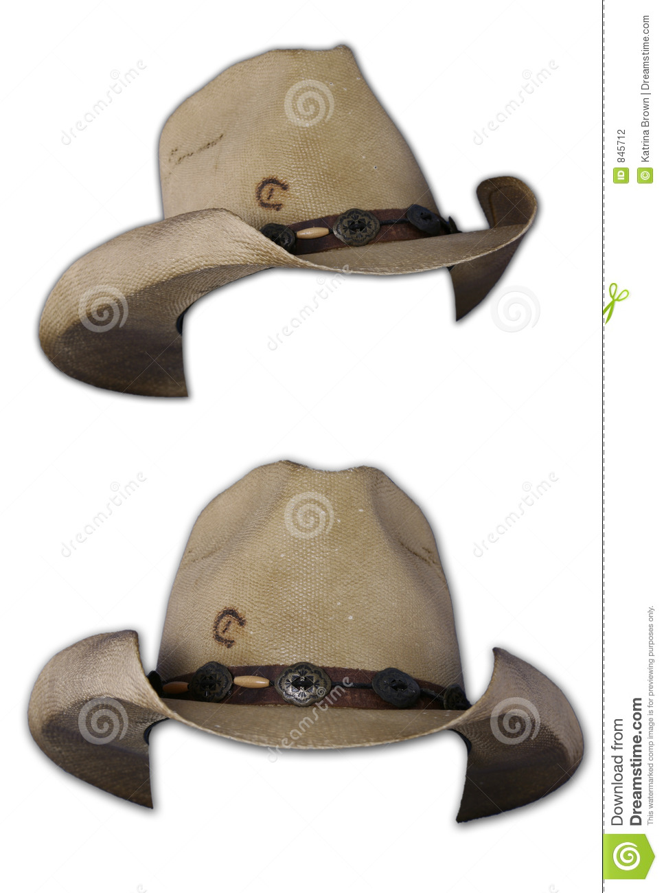 Isolated Cowboy Hats