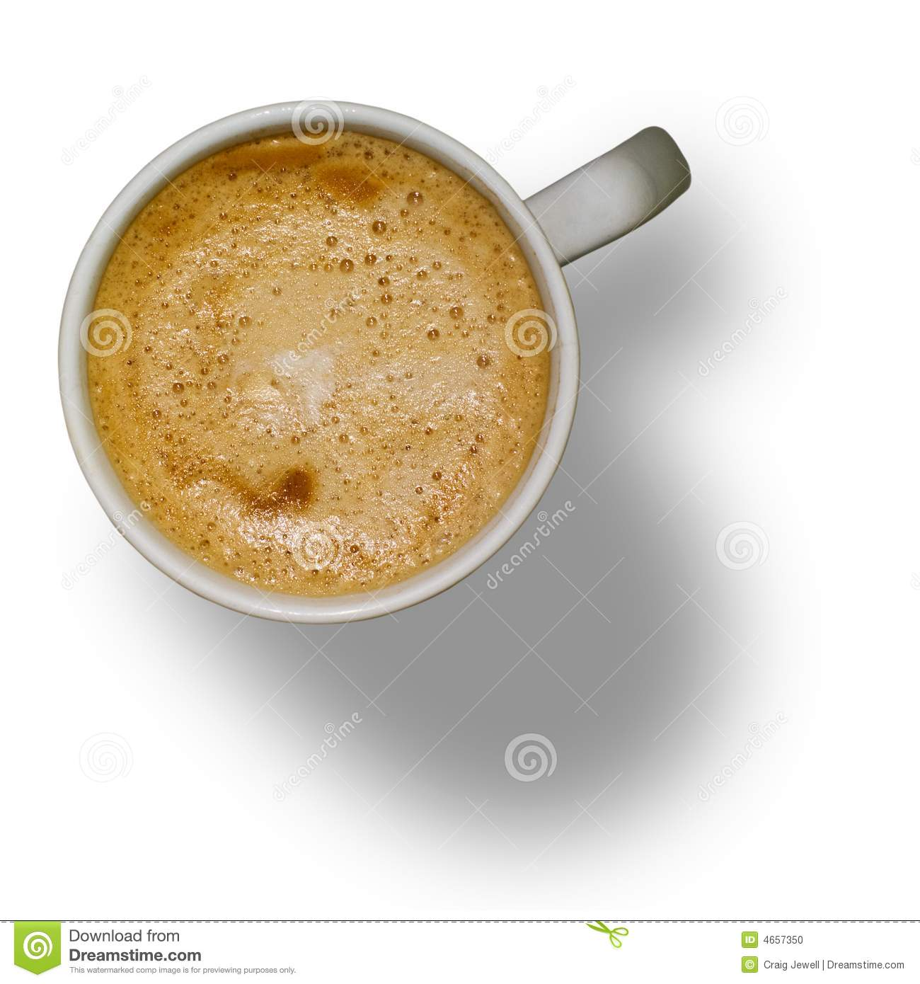 Isolated Cup of Coffee with Clipping Path